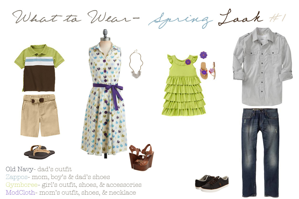 Family Portrait Clothing Ideas Spring